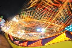Dazzling Lights (Dave-B2012) Tags: uk longexposure sea england night lights coast seaside nikon colours ride fairground illuminated coastal lighttrails colourful essex southend attraction adventureisland d90 nikonflickraward flickraward5