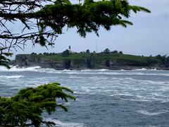 Cape Flattery Lighthouse (tinyfroglet) Tags: ocean sea lighthouse water bay coast washington cove wave shore cape neah flattery