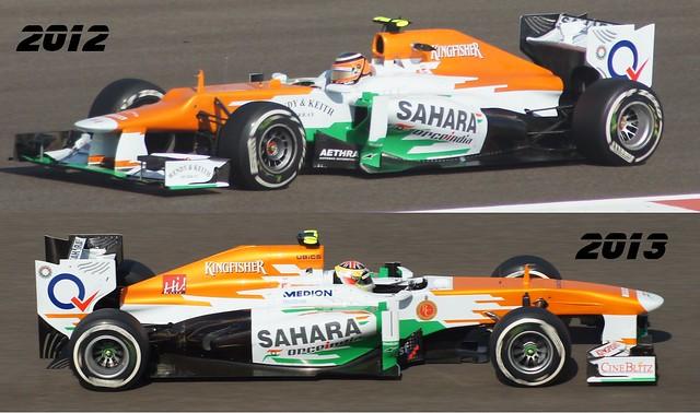 Force India 2012 vs 2013 (Abu Dhabi GP)