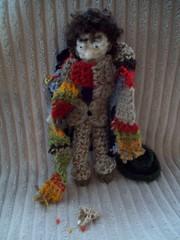 Jelly babie mishap ! (Josie *) Tags: scarf toys handmade crochet doctorwho bbc scifi sweets drwho handsewn amigurumi 50thanniversary tombaker jellybabies owndesign crochetedtoy ownpattern crocheteddrwho crochetedtombaker crocheteddoctordoll