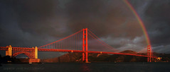 Twelve Days of Christmas (Day Two) 2013 (Andrew Louie Photography) Tags: life california christmas camera bridge autumn light storm coffee rain canon point photography golden rainbow gate san francisco december peace fort marin jazz panoramic headlands today epic 2010