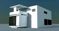 Bauhaus 18 (stancula) Tags: house detail building art architecture facade digital design cg render scene animation bauhaus grafic wiev