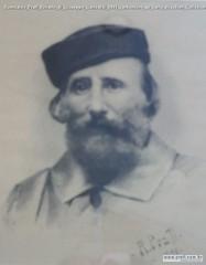 Romualdo Prati Ritratto di Giuseppe Garibaldi 1891 carboncino su carta 46x38cm Collezione privata