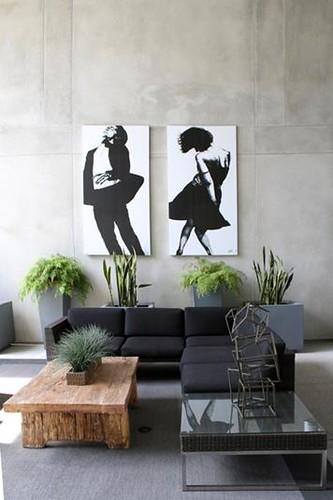 concreto decoracion paredes