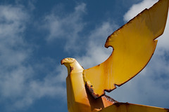 Punta Sur (dorochina) Tags: park vacation sculpture bird art yellow metal garden circle point mexico three rust eagle south punta sur cancun islamujeres quintanaroo islandofwomen