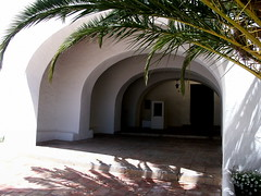 Shadows (teuchter10) Tags: door white building shadows arches palm davidson fronds greig vision:outdoor=0911