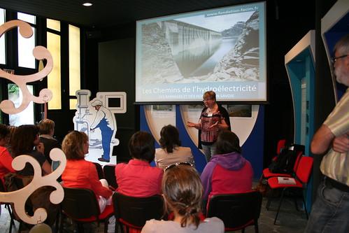 Conférence hydro avant visite © P. Dubois - Fondation Facim