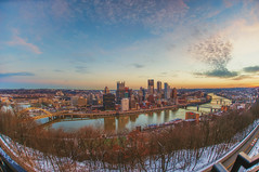 A fisheye view of the Pittsburgh skyline early in the morning from Mt. Washington (Dave DiCello) Tags: winter snow ice pittsburgh northshore pittsburghskyline d600 ndfilters pittsburghatnight neutraldensityfilter pittsburghnorthshore neutraldensityfilters pittsburghinthesnow pittsburghrivers snowypittsburgh pittsburghphotography winterinpittsburgh snowinpittsburgh davedic