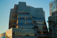 IAC Building (Ben-ah) Tags: nyc blue ny newyork building tower glass gehry highrise frankgehry iac