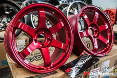 """VOLK Racing TE37SL 18x9.5 +22 Hyper Red • <a style=""""font-size:0.8em;"""" href=""""http://www.flickr.com/photos/64399356@N08/12913745575/"""" target=""""_blank"""">View on Flickr</a>"""