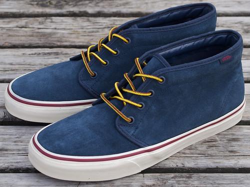 13218627e3483e Vans for J.Crew   Suede Chukka Boots - Dress Blues