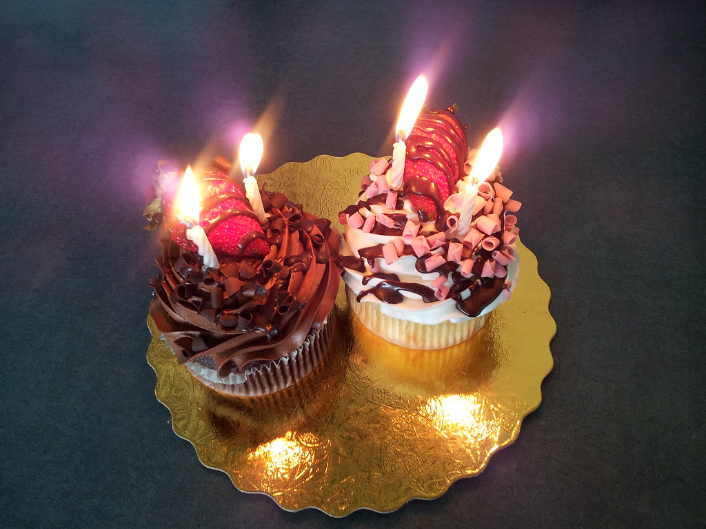 74365 Snap Shot Tags Cameraphone Cupcakes Candles Yum Flames Coworker