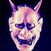 Japanese Noh Hannya Mask ANIMATED AND PIXELATED
