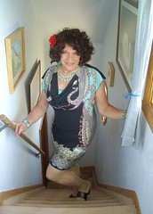 "Worth A ""Stair"" Or Two (Laurette Victoria) Tags: wisconsin stairs dress curves curly milwaukee brunette laurette laurettevictoria"