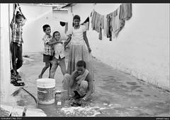 courtyard (AnimeshHazra) Tags: family people india monochrome kids rural village hyderabad