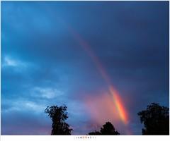 Een stukje regenboog (nandOOnline) Tags: park sunset regenboog clouds landscape rainbow zonsondergang nederland wolken regen dorp landschap vijver kleuren helmond nbrabant brouwhuis lichtbreking