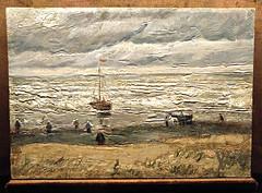 Seascape at Scheveningen- van Gogh (jjamv) Tags: julesvtravel art vincentvangogh vangogh painting viewoftheseaatscheveningen mafia camorra castellammaredistabia vangoghmuseum thrhague amsterdam jjamv lgh960 lgv10 nationalmuseumofcapodimonte sea beach dunes coastallandscape noordzee northsea