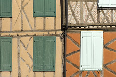 Mirepoix Facade à colombages des maisons médiévales (ChristianLeduc) Tags: 09 2017 ariége bastide france hiver midipyrénées mirepoix occitanie