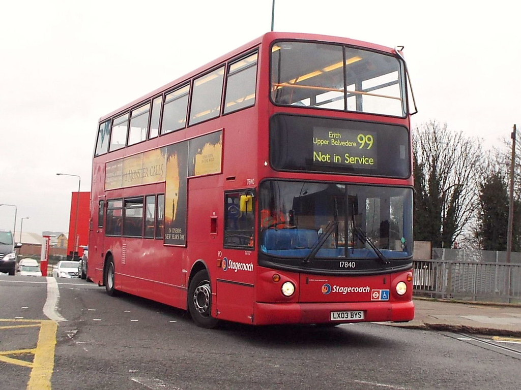 LX03BYS 47604 Tags Lx03bys 17840 Stagecoach Bus Plumstead Route Service 99