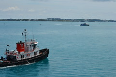 Bermuda Tug (therealSamWow) Tags: blue water boats power tugboat bermuda