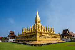 Wat Thatluang 1 (Santi Sukarnjanaprai) Tags: travel art architecture temple asia place buddhist sight laos wat vientiane thatluang