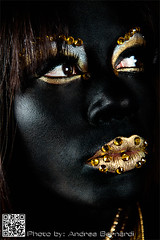 Black Venus (Bernardi Andrea) Tags: portrait woman beauty fashion gold nikon makeup ritratto d800 mua