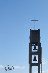 Campanario (Oscar F. Hevia) Tags: espaa tower spain torre asturias belfry cielo naturalparadise oviedo moderno campanario campanas asturies naranco santamariadelnaranco caminado ofh principadodeasturias parasonatural
