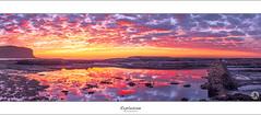 Explosion (John_Armytage) Tags: panorama seascape reflection beach clouds sunrise colours pano australia newportbeach panoramic newport nsw canon5d carlzeiss novaflex
