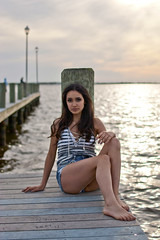 Pier 1 (Hey_Lee! Photography) Tags: ocean new sunset sea black love ice beach girl fashion shirt closet photography bay pier seaside pretty photobooth dress stripes swings arcade nj cream games clothes anchor jersey boardwalk shorts heights gigis heylee heyleephotography