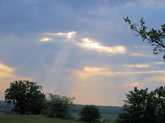 Sunrays Through a Hole in the Clouds. (woodmosaics) Tags: sunrays