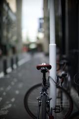 tokyo (osamukaneko) Tags: street leica bicycle 50mm tokyo f10 noctilux m9 e60  bokeh