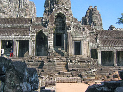 Steps to Hall of Bayon Temple_0879 (hkoons) Tags: old temple ancient worship shrine cambodia khmer god buddhist prayer religion buddhism philosophy gods siemreap deity bayon yesteryear beliefs bayontemple kingjayavarmanvii theravadabuddhism