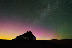 Palouse Summer Nothern Lights 1 (Ryan McGinty) Tags: summer silhouette barn landscape washington nightsky northernlights auroraborealis milkyway palouse ryanmcginty