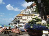 Positano, Amalfi coast, Italy (loisberg12) Tags: flowers beach boats amalficoast positano mybest blueflowers positanoamalficoast globeecology lovelyflickr beautifulflickr positanomagic positanobythesea hillypositano amazeandbeameazed