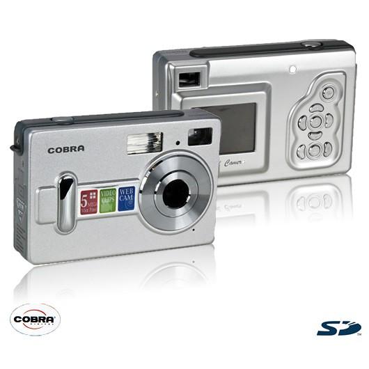 Cobra Digital Factory Recertified DC5200 5.0MP Digital Camera With 1.5 LCD Screen, Auto Flash, 4x Digital Zoom & More