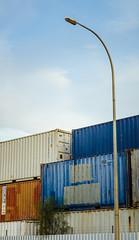 Urban Planter (Andrew_Dempster) Tags: urban streetlight streetlamp australia adelaide sa southaustralia containers wingfield