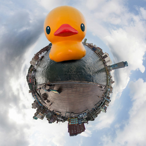 [假想Mockup]小星球-基隆港(鴨鴨版) Little Planet-Port of Keelung(Rubber Duck)