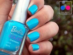 Look - Barbie * (Lu Mendes) Tags: blue color nails esmaltes cremoso lookbarbie