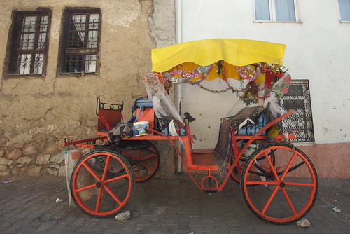 Continuing yesterday's colour theme - a wedding carriage in the backstreets of Tokat