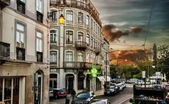 Lisboa al atardecer - Lisbon al sunset (celta4) Tags: city sunset cars portugal clouds buildings atardecer lights luces edificios lisboa lisbon ciudad nubes autos coches