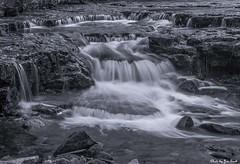 Bottom of Au Train (Scottski 39) Tags: bw up waterfall rapids