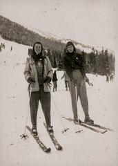 Ski Fashion...  A Few Years Ago... (Sherlock77 (James)) Tags: winter people woman snow skiing oldphotos foundphotos