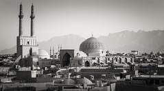 Yazd (daniel.frauchiger) Tags: city lumix desert iran minaret persia olympus mosque panasonic f18 45mm yazd m43 gf1 mircro43