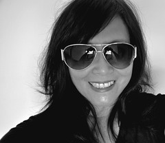 Happy Birthday (missgeok) Tags: birthday lighting portrait blackandwhite woman monochrome beautiful smile face sunglasses closeup thanks lady female composition happy expression sydney australia celebration age happybirthday today facial selfie 2013 darklonghair nikond90