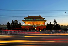 Shenwu Gate of Forbidden City at sunset time, Beijing (kingdomany) Tags: china city travel color tourism photo nikon scenery flickr tour beijing d90