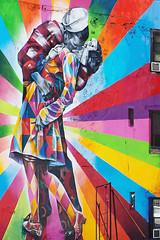 Time's Square Kissing-Couple---Web (rob mccoll ARPS) Tags: newyorkcity colour colors square graffiti kiss kissing vibrant timessquare times