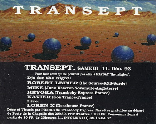 "Patrice Heyoka - Flyer 11/12/1993 - ""Transept"" (Paris) <a style=""margin-left:10px; font-size:0.8em;"" href=""http://www.flickr.com/photos/110110699@N03/11307783575/"" target=""_blank"">@flickr</a>"