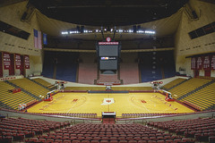 Assembly Hall (riggsy23) Tags: college sports basketball architecture canon campus hall big university indiana arena ten bloomington iu assembly 1635mm b1g vision:sunset=0564 vision:text=0504 vision:car=0699 vision:sky=0608