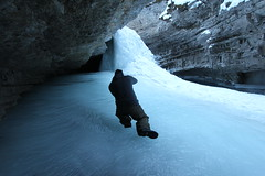Johnston canyon Alberta Canada (davebloggs007) Tags: blue canada fall ice water frozen canyon alberta cave johnston