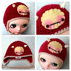 Burgundy Baby Fangster Hat